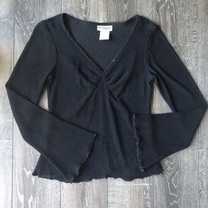 Wrapper Black Blouse